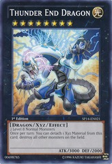 Thunder End Dragon - SP14-EN021 - Common - 1st Edition