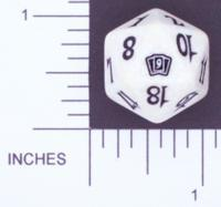 Magic Spindown Die - 9th Edition - White