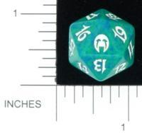 Magic Spindown Die - Apocalypse - Green