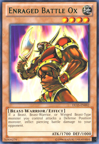 Enraged Battle Ox - Green - DL15-EN002 - Rare - Unlimited Edition