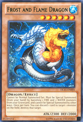 Frost and Flame Dragon - Green - DL15-EN005 - Rare - Unlimited Edition