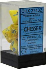Vortex Yellow w/Blue 7 Dice Block - CHX27432