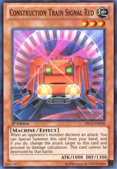 Construction Train Signal Red - DRLG-EN038 - Super Rare - 1st Edition on Channel Fireball