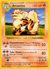 Arcanine - 23/102 - Uncommon - Shadowless Edition