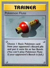Pokemon Flute - 86/102 - Uncommon - Shadowless Edition