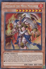 Thestalos the Mega Monarch - PRIO-EN035 - Secret Rare - 1st Edition