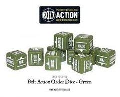 12 Green Bolt Action Order D6 Dice Set