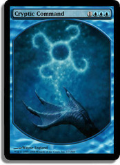 Cryptic Command (Foil Textless Player Rewards) on Channel Fireball