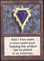Mox Sapphire (Not Tournament Legal) on Channel Fireball