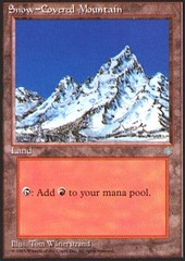Snow-Covered Mountain on Channel Fireball