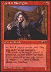 Agent of Stromgald (Woman Holding Staff) on Channel Fireball