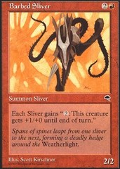 Barbed Sliver on Channel Fireball
