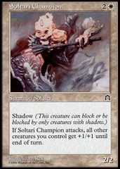 Soltari Champion on Channel Fireball