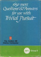 1650 more Questions & Answers for use with Trivial Pursuit: Set I, Group II