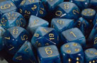 Phantom Teal / Gold 7 Dice set - CHX27489