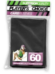 Player's Choice Standard Black Sleeves (60 ct.) on Channel Fireball