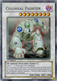 Colossal Fighter - 5DS1-EN043 - Super Rare - 1st Edition