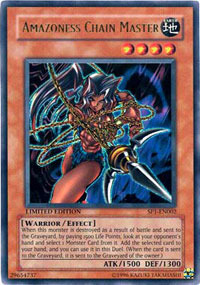 Amazoness Chain Master - SP1-EN002 - Ultra Rare - Limited Edition
