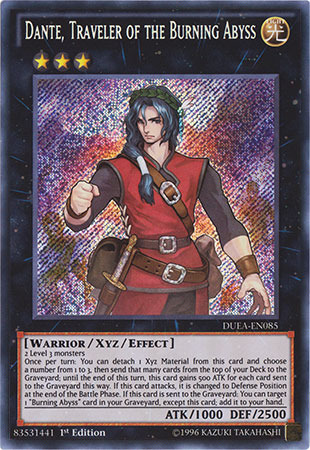 Dante, Traveler of the Burning Abyss - DUEA-EN085 - Secret Rare - 1st Edition