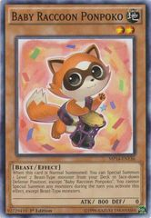 Baby Raccoon Ponpoko - MP14-EN136 - Common - 1st Edition