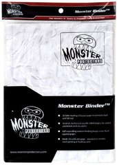 9-Pocket Monster Binder - Matte White Crumpled Paper