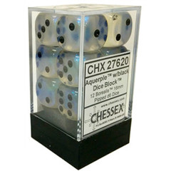 12 Aquerple w/black 16mm Dice Block - CHX27620