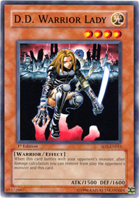 D.D. Warrior Lady - SD5-EN011 - Common - 1st Edition