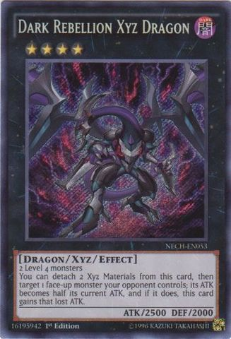 Dark Rebellion Xyz Dragon - NECH-EN053 - Secret Rare - 1st Edition