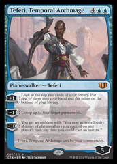 Teferi, Temporal Archmage (Oversized) on Channel Fireball