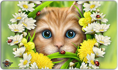 Inked Summer Cat Playmat