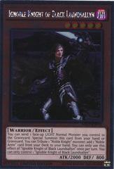 Ignoble Knight of Black Laundsallyn - NKRT-EN005 - Platinum Rare - Limited Edition on Channel Fireball