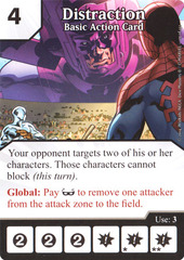 Basic Action Card - Distraction (Die & Card Combo)