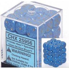 36 Golden Water Speckled 12mm D6 Dice Block - CHX25956