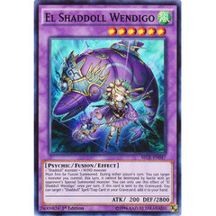 El Shaddoll Wendigo - SECE-EN047 - Super Rare - 1st Edition on Channel Fireball