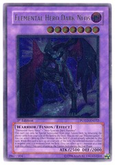 Elemental Hero Dark Neos - Ultimate - POTD-EN033 - Ultimate Rare - 1st