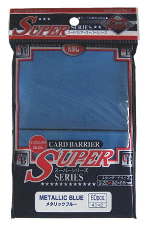 KMC Metallic Blue Sleeves (80 ct)