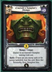 Emerald Champion's Mempo