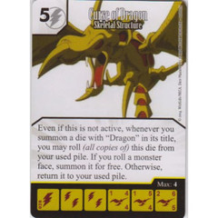 Curse of Dragon - Skeletal Structure (Die & Card Combo)