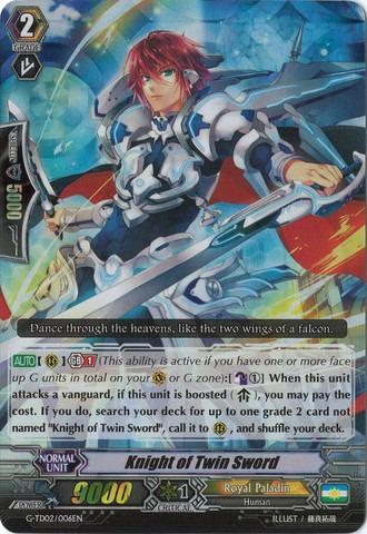 Knight of the Twin Sword - G-TD02/006EN (RRR)