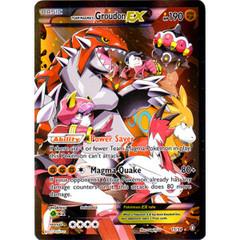 Team Magma's Groudon-EX - 15/34 - Holo Rare EX