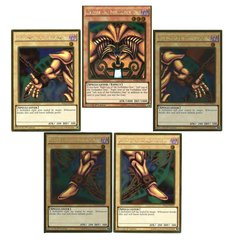 Exodia the Forbidden One Full Set - Gold Rare - 1st Edition