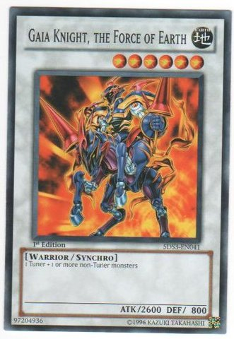 Gaia Knight, the Force of the Earth - 5DS3-EN041 - Common - 1st Edition