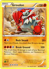 Groudon - 84/160 - Cracked Ice Holo Earth's Pulse Theme Deck Exclusive