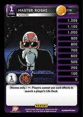 Master Roshi, Scouted - Foil