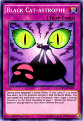 Black Cat-Astrophe - DRL2-EN037 - Super Rare - 1st Edition on Channel Fireball