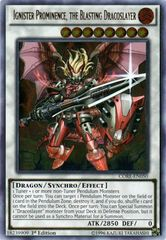 Ignister Prominence, the Blasting Dracoslayer - CORE-EN050 - Ultimate Rare - 1st Edition