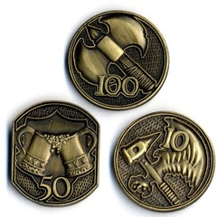 GameMastery Campaign Coins: Gold (10, 50, 100)