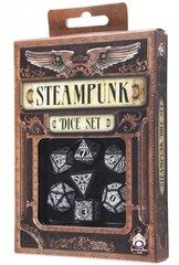 Black-White Steampunk dice set (7)