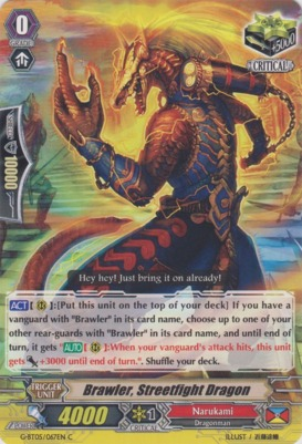 Brawler, Streetfight Dragon  - G-BT05/067EN - C