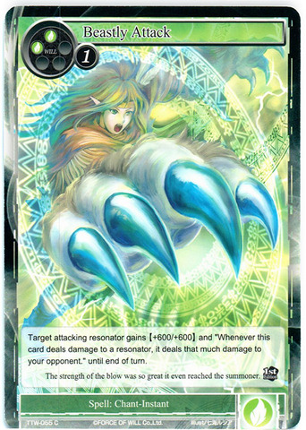 Beastly Attack - TTW-055 - C - 1st Edition (Foil)